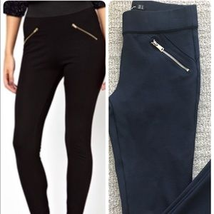 Sexy Zara Silver Zip Leggings